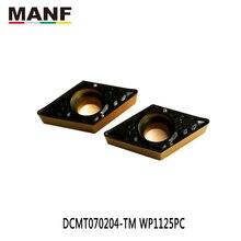MANF carbure insère DCMT070204 dans les outils de tournage outils de CNC Inserts dalésage outils de tour de coupe S16Q-SDQCR07