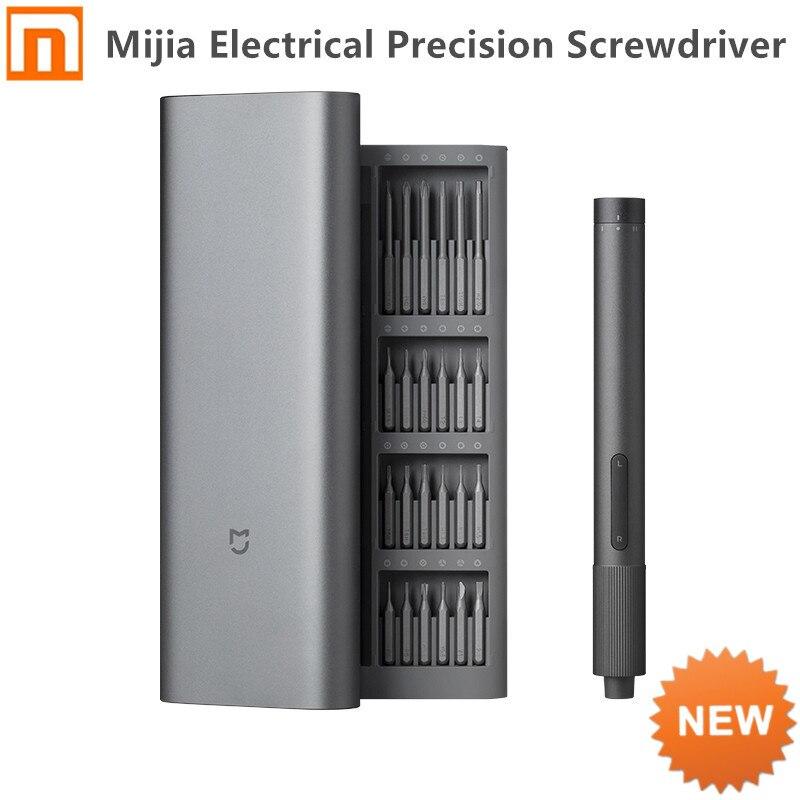 2020 Xiaomi Mijia الكهربائية الدقة المفك كيت 2 والعتاد عزم الدوران 400 المسمار 1 نوع-C قابلة للشحن المغناطيسي الألومنيوم حالة مربع