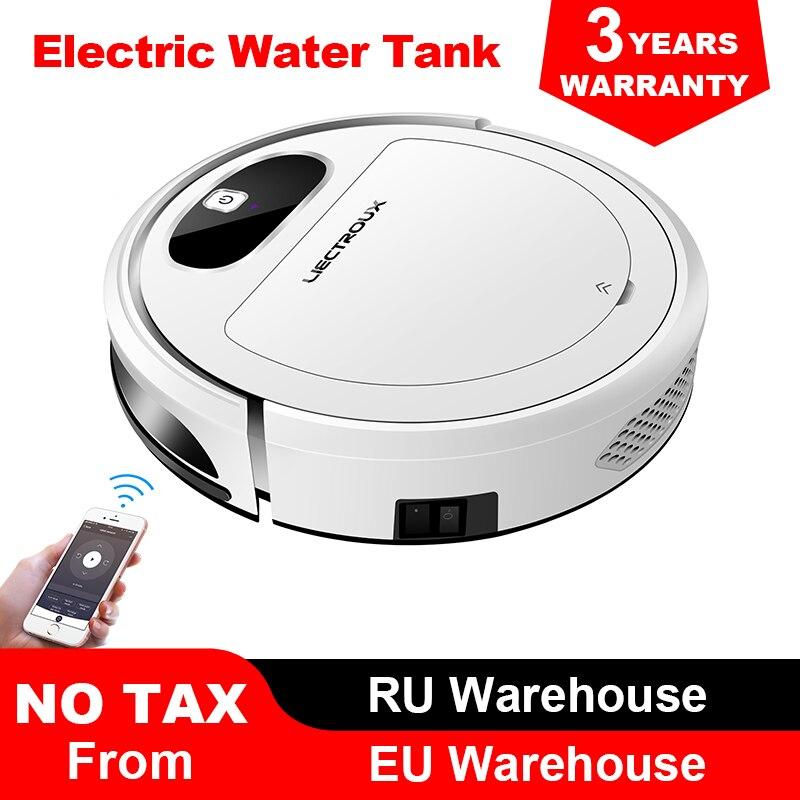 Liectroux 11S فراغ تنظيف الروبوت ، WiFi App ، الجيروسكوب و 2D خريطة الملاحة ، التحكم الكهربائية الهواء مضخة خزان المياه ، الرطب الجاف النظيف