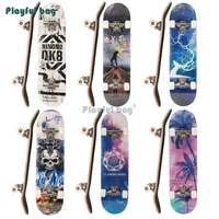 playful bag adult beginner skateboard complete 8020cm four wheels skateboard brushing street sport double rocker board amb46
