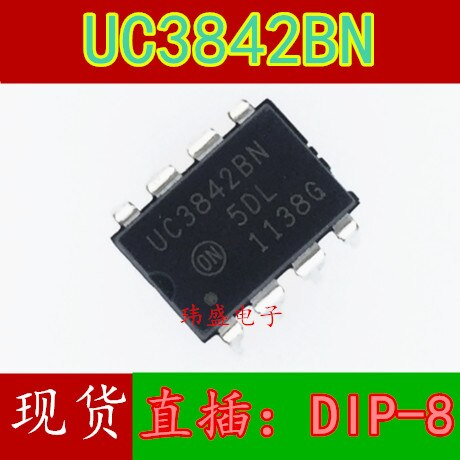 10 pçs/lote UC3842 UC3842BN DIP-8 ic