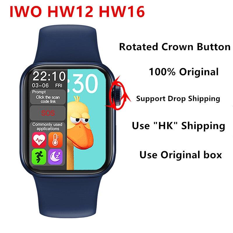 Hw12 hw16 tela cheia relógio inteligente 2020 44mm 40mm feminino masculino smartwatch 2021 tela dividida chamada bluetooth pk iwo 12 fk88 x16 w26 +