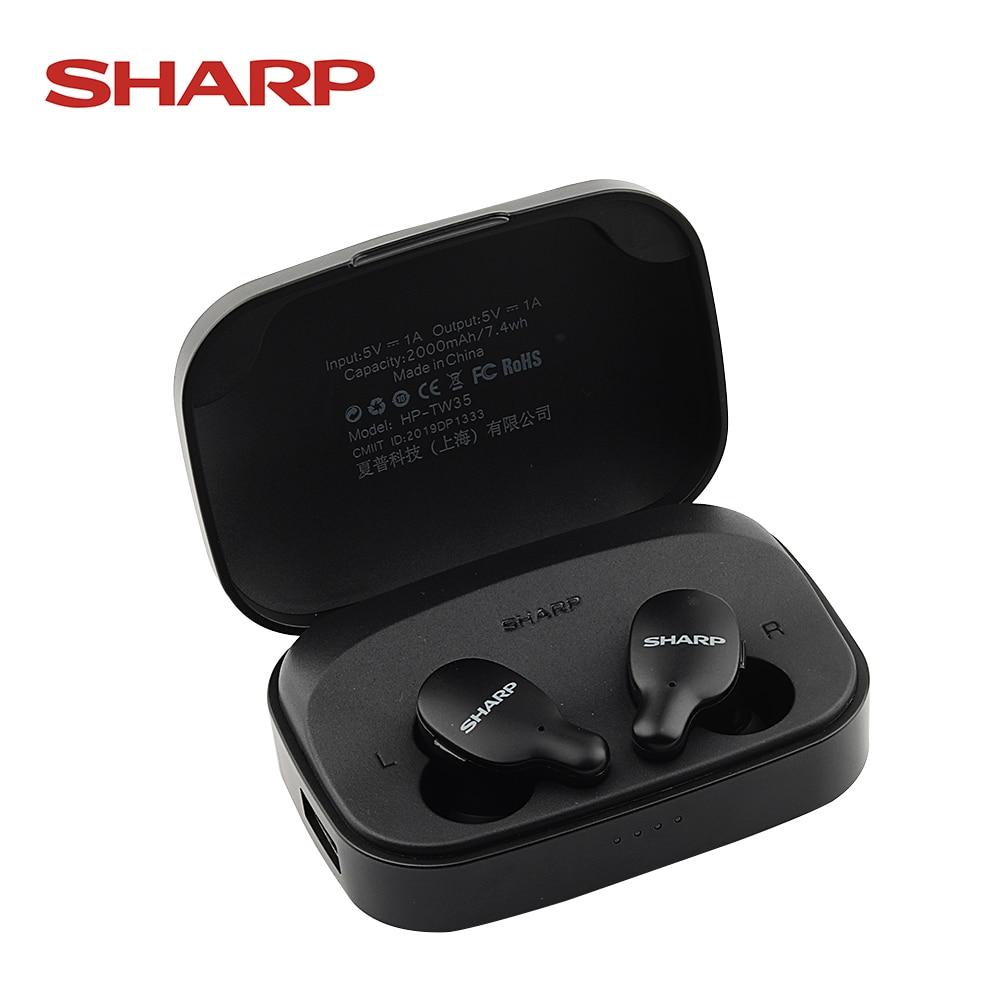 TWS Bluetooth-наушники SHARP, беспроводные, HD, стерео, бас, BT 5,0, с микрофоном, для XIAOMI и всех телефонов