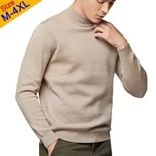 2019 Mock-Neck Pullover Pullover Männer Qualität Männer Turtlenck Pullover Männlichen Herbst Winter Dicke Schildkröte-neck Pullover Herren muLS Marke
