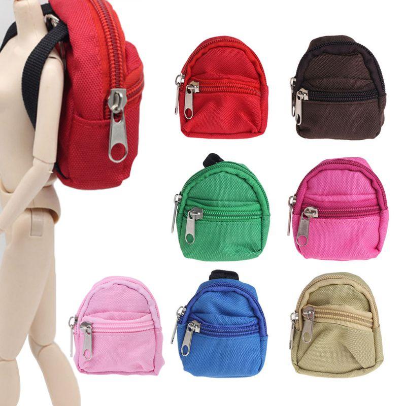7 accesorios para mochila de muñeca de colores, exquisitos Mini juguetes de barbacoa, lindos regalos para niños, muñeca, Mini mochila, regalos para niños, juguete para niños