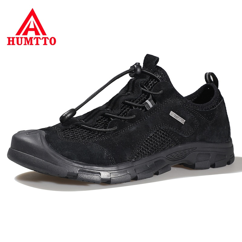humtto summer men sandals 2021 breathable beach sandals for men's outdoor water mens hiking camping fishing climbing aqua shoes HUMTTO Mountain Hunting Hiking Shoes Men Outdoor Climbing Trekking Leather Water Sneakers Breathable Non-slip Camping Mens Shoes
