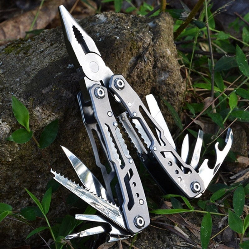 Stainless Steel Multi-tool Pocket Knife Pliers Mini Portable Folding Pliers Outdoor Emergency Folding Repair Tool smallrig pocket sized tool set universal folding multi tool for videographers use for camera gimbal 2713