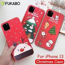 For iPhone 13 12 Mini 11 Pro Max Christmas Cute Phone Case XR X XS Max 7 8 6S PLus SE 2020 Luxury Sh