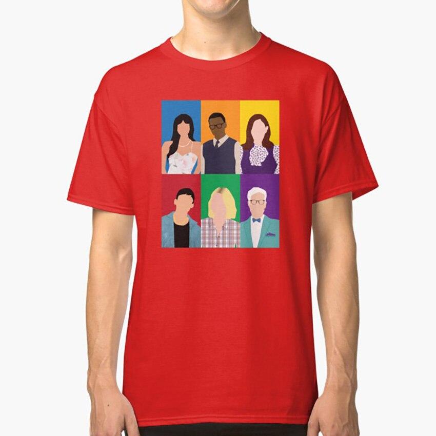 El buen lugar, camiseta, el buen lugar, Eleonor Shellstrop, Tahani Al Jamil, Jason Charlotte, Chidi, Anagonye, Michael Janet