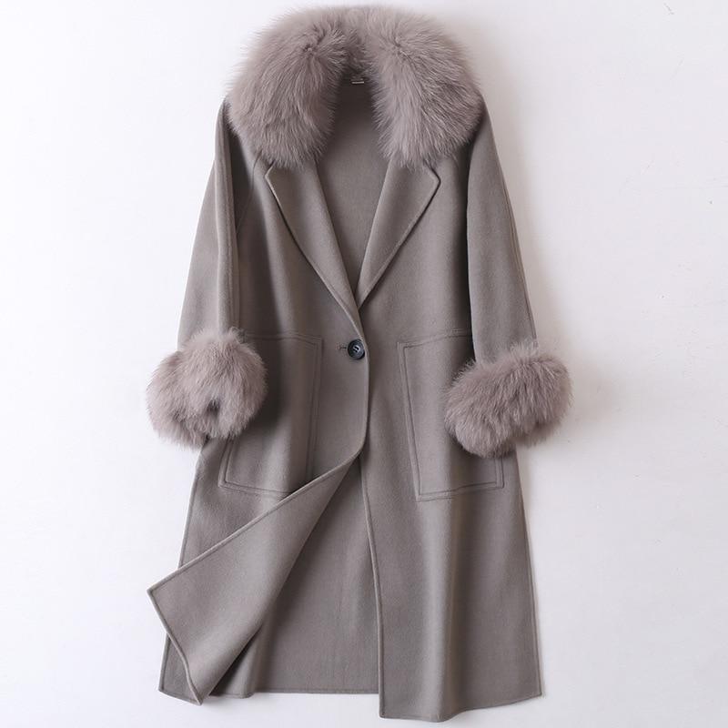 2020 mulheres plus size outono inverno cassic simples lã maxi casaco longo feminino robe outerwear manteau femme