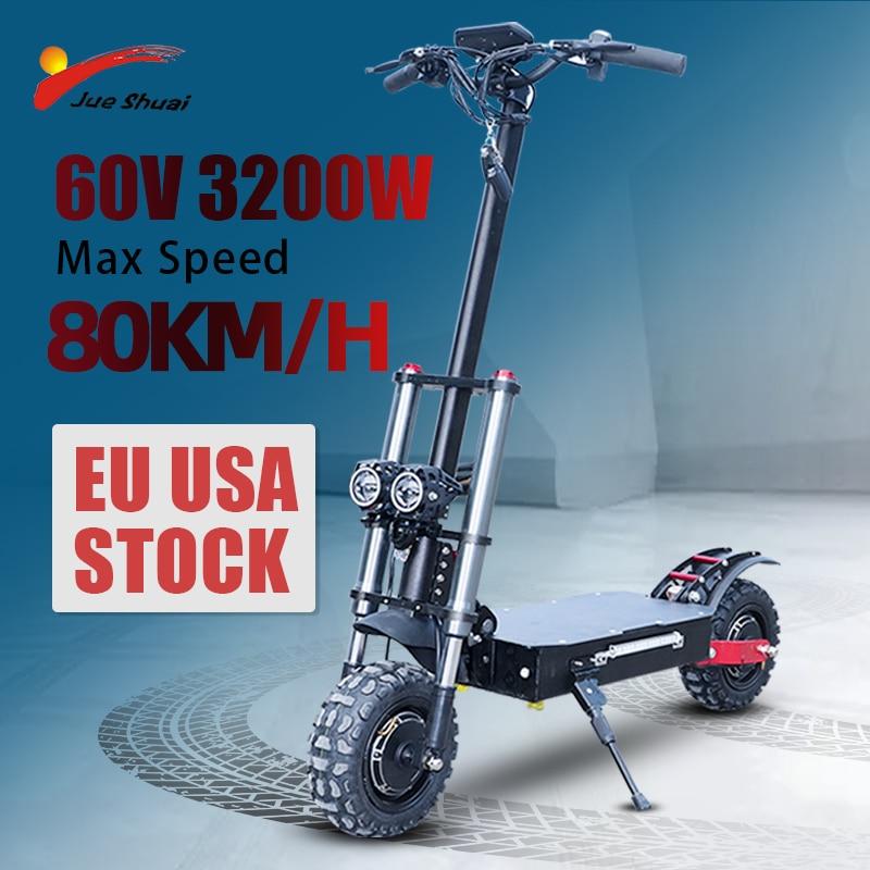 Patinete eléctrico de alta velocidad para adultos, Scooter todoterreno plegable de doble...