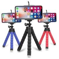 Мини Гибкий губка Осьминог штатив для iPhone Huawei Мобильный телефон Смартфон Штатив для Gopro 9 8 7 5 Osmo камера