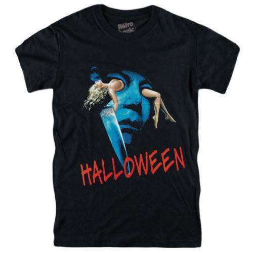 HALLOWEEN camiseta Michael Myers figura vhs dvd disco de rayos azules cartel CarpenterCool Casual orgullo t camisa de los hombres de moda Unisex