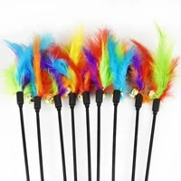 short pole funny cat rock feathers bell funny cat black pole funny cat stick funny cat toy