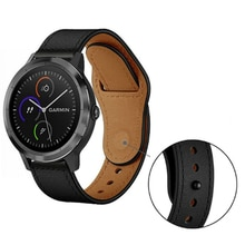 Genuine Leather Strap For Garmin Vivoactive 3 Music Vivoactive 4 Watch Strap Smart Bracelet Band Forerunner 245 M 645 Wristband