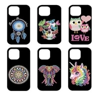 5d diy diamond painting beautiful for iphone 11 pro max mobile phone case diamond embroidery mosaic cross stitch decoration gift