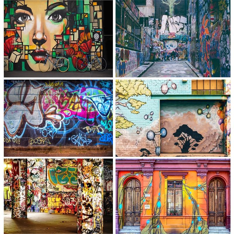 SHENGYONGBAO кирпичная стена художественные граффити фотографии фоны для детской портретной фотографии фон для фотостудии 210328TYD-02