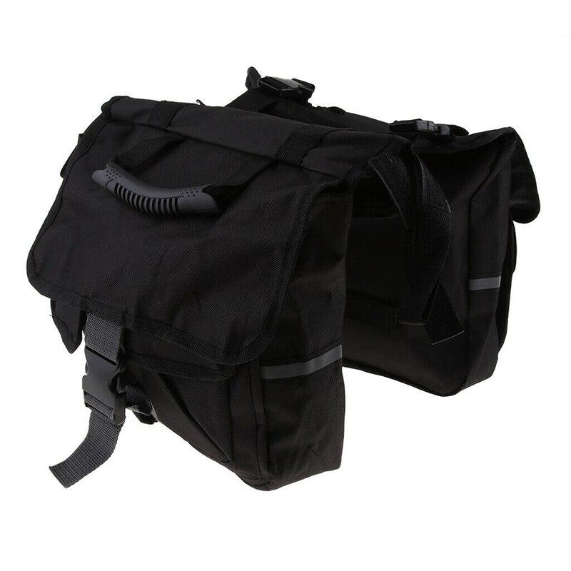 Negro motocicleta asiento trasero bolsas mochila bicicleta moto desmontable asiento trasero bolso baúl equipaje