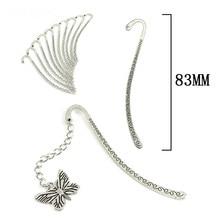 Vintage Retro Tibetan Silver Bookmark Slanted Head Hook DIY Jewerly Making Findings For Hairpin Handmade Crafts