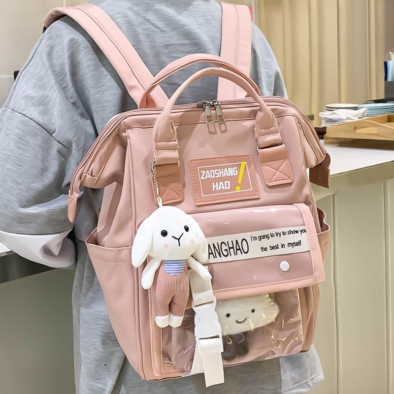 2021 Summer Women Girls Backpack High Quality Nylon Backpacks School Bags for Teenagers Girl Mochila