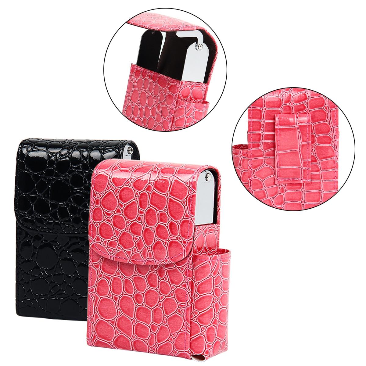 1PC Cigarette Case Crocodile Pattern Cigarette Box Lighter Holder Tobacco Smoke Tools Cigar Case Men