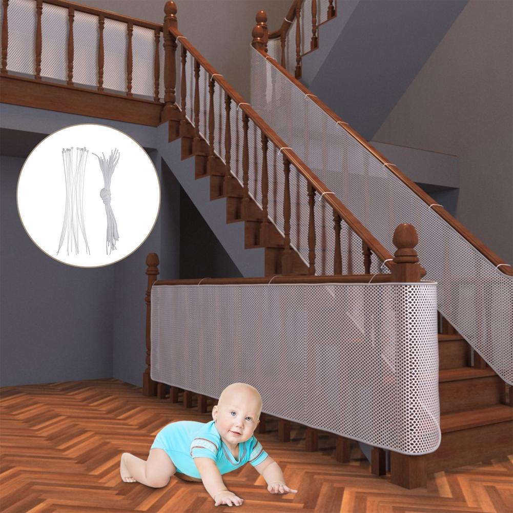 Защитная сетка для детской лестницы, защитная сетка для балкона, лестницы, забор для украшения балкона, плотная Жесткая сетка