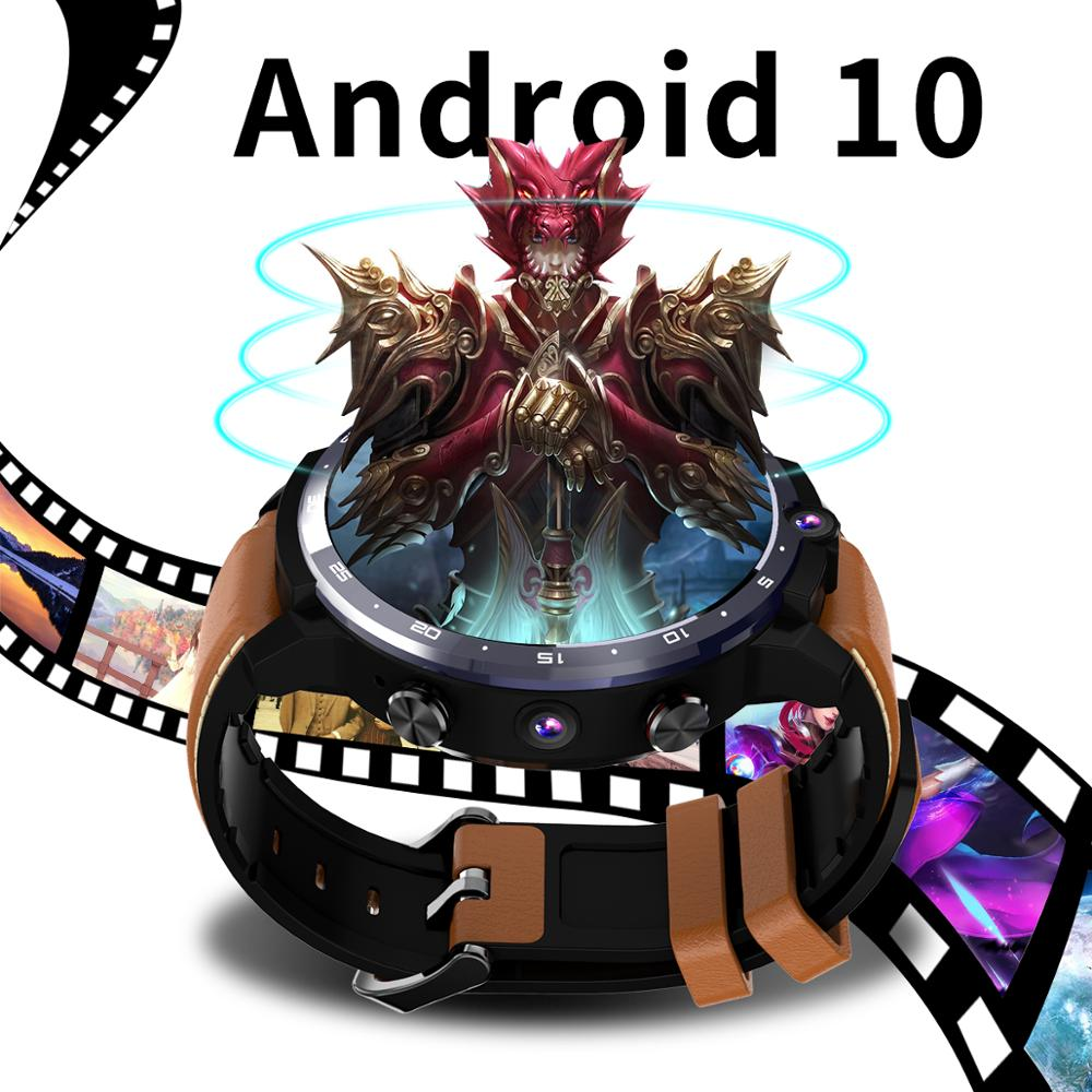 LEMFO Smart Watch Men LEM12pro 4+64G Android 10 400*400 1.6 inch Screen Dual Camera 4G 900 mAh Power Bank Google Play Smartwatch