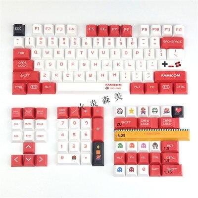 Cherry Profile Keycaps Sega Mario PBT 5 Face DYE Sublimation Key caps 1.75U 2U 2.25U Shift Keys For 98% Mechanical Keyboard