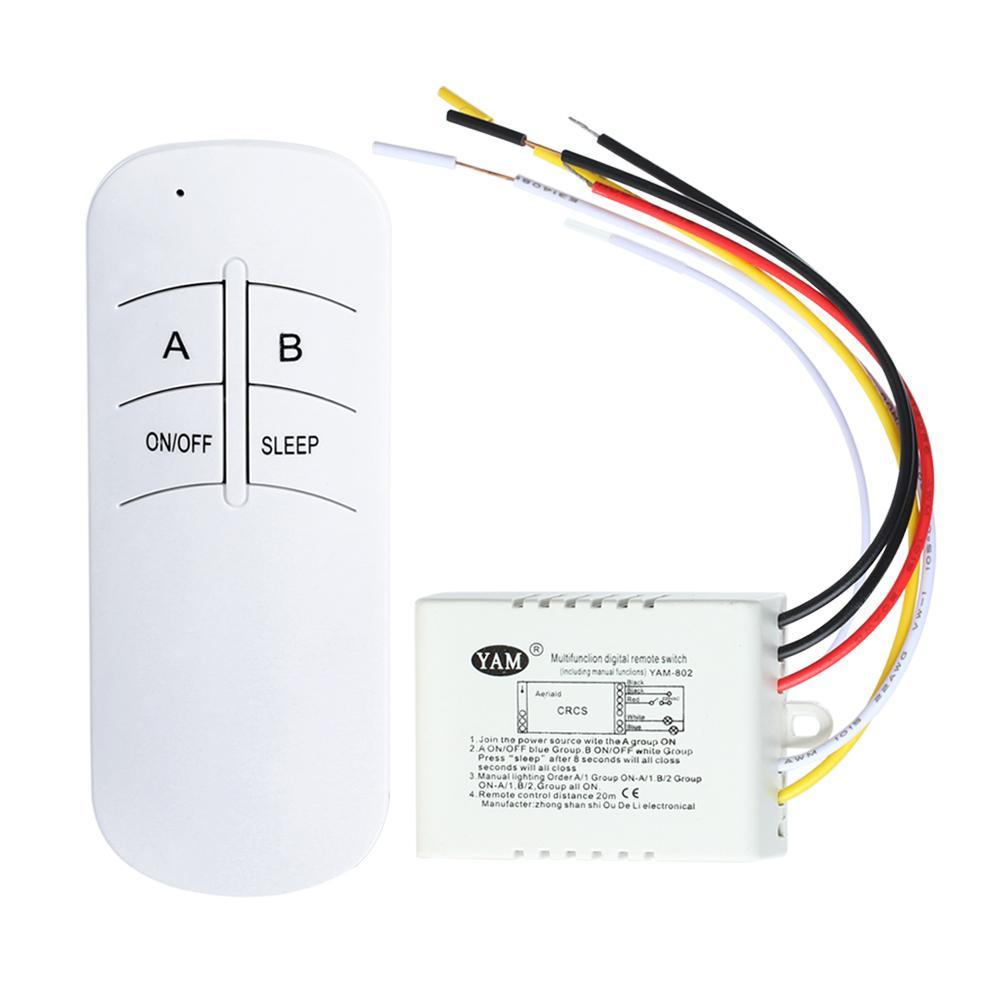 220V 1000W interruttore di controllo remoto luce ON/OFF Wireless treewireless ON/OFF 220V lampada