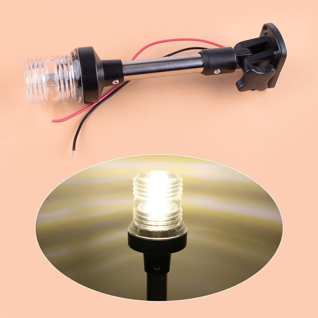 Luz 9-1/2 12-24 v do pólo da âncora da popa da navegação do diodo emissor de luz da dobra ajustável do pontão do barco marinho de citall