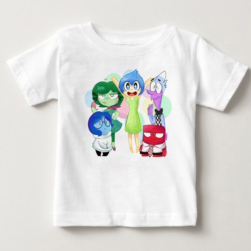 2020 summer prints T shirt lnside out animated movies short sleeves boys and girls love happy sadness fear hate anger clothes MJ