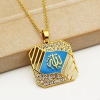 new trendy arab islam muslim rune pattern pendant necklace womens necklace metal rune amulet pendant accessories party jewelry