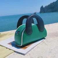 designer contrast color tote women handbag shell bag 2021 shoulder crossbody bags for women 2021 cute small brands purses clutch