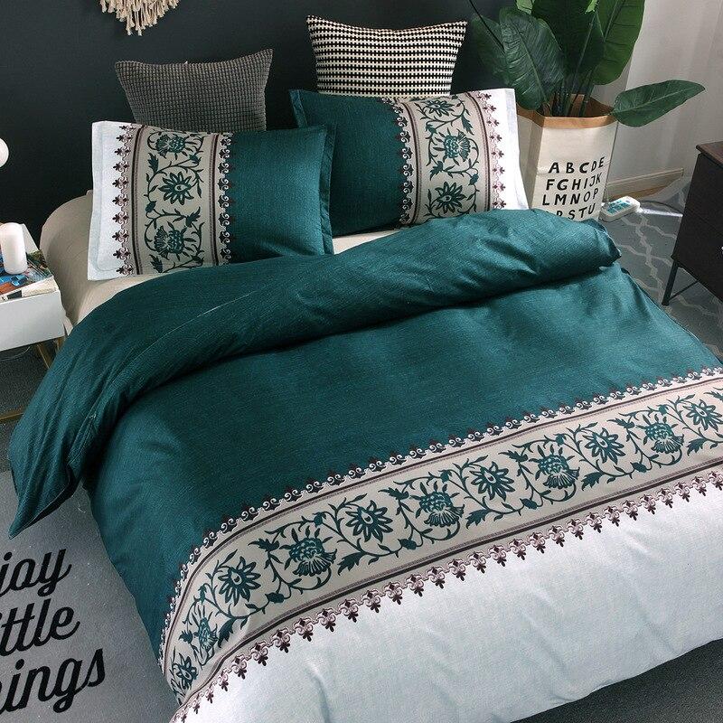 طقم سرير المعزي للسرير 6 ألوان غطاء لحاف المخدة بدون غطاء سرير فاخر لحاف مطبوع مجموعة غطاء المفارش 2/3 قطعة