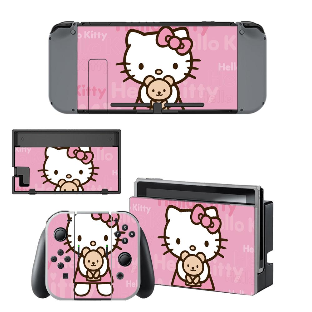 Наклейка hello kitty для nintendo Switch, наклейка для nintendo Switch, s skins для nintendo Switch, консоли и контроллера Joy-Con, винил