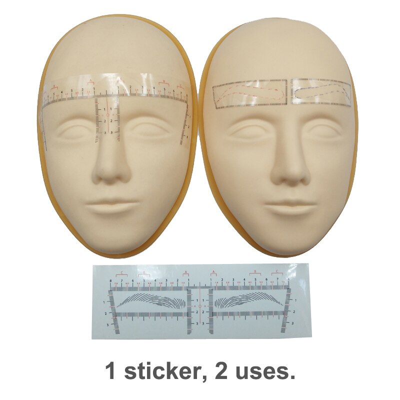 25pcs Eyebrow Stencils Shaping New Product Microblading Accessories Disposable Eye Brow Ruler Sticke