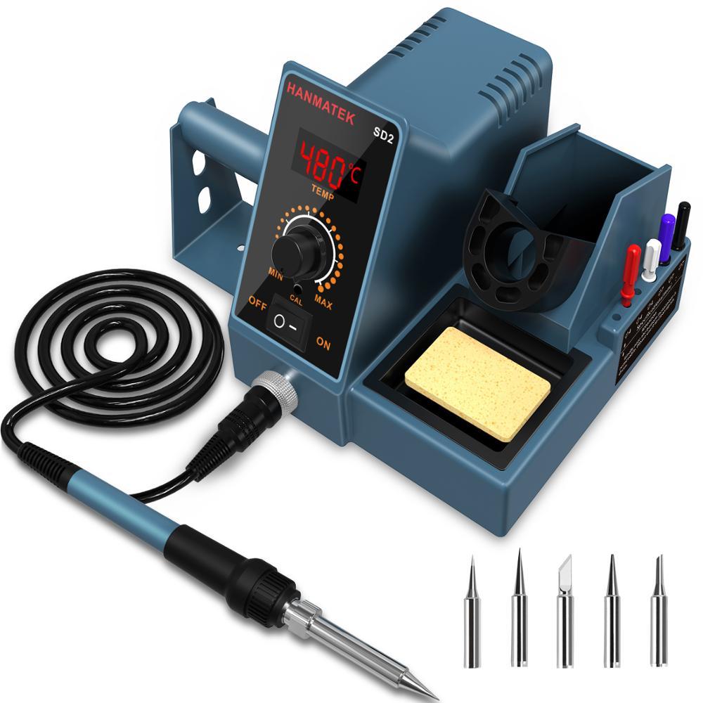 Digital Display Constant Temperature Soldering Station Adjustable Temperature Home Repair Soldering Iron Soldering Gun 60W