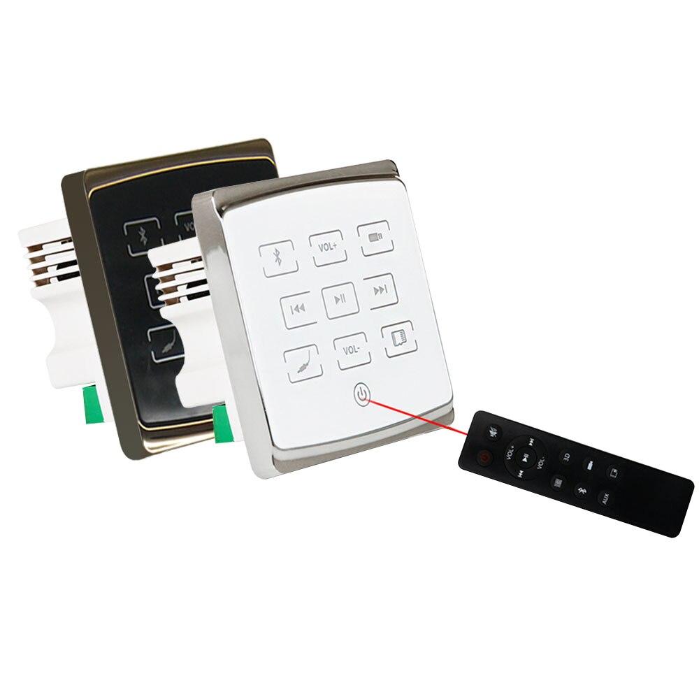 Amplificador de som do bluetooth do tela táctil da in-parede do amplificador de áudio sd/controlador remoto de usb que joga música