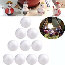 10Pcs 4/6/7/8 Cm Kerst Schuim Craft Bal Decoratie Modellering Craft Solid Polystyreen Schuim Ballen Ronde bollen Wit