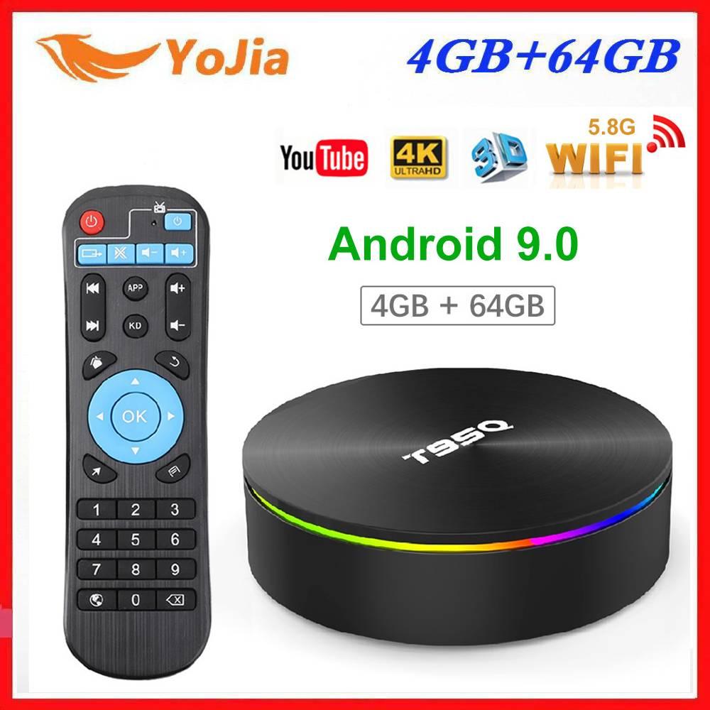 Amlogic S905X2 Android 9,0 caja de TV T95Q 4K Reproductor Multimedia Inteligente 4GB RAM 64GB ROM 32G QuadCore 2,4G y 5GHz Wifi Set Top BOX