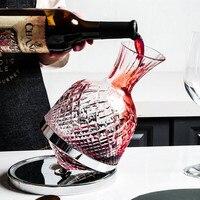 Креативный роторный графин для домашнего вина в стиле Сент-Луис с одинаковым гироскопическим дозатором, стеклянный графин