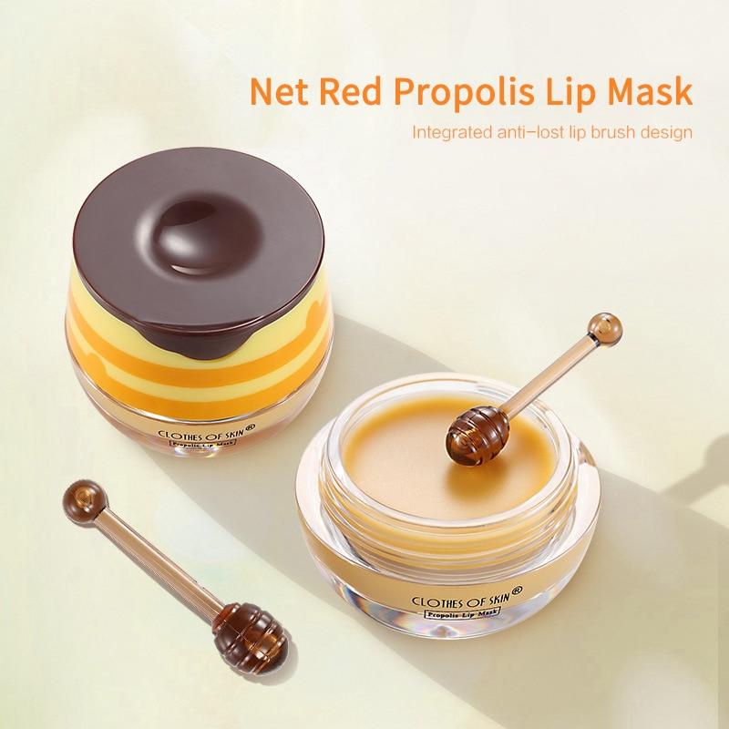 Propolis Lip Balm Moist Lips Mask Lasting Moisturizing Lip Gloss Daytime Nutrition Night Care Lip Balm Makeup Comestics TSLM1