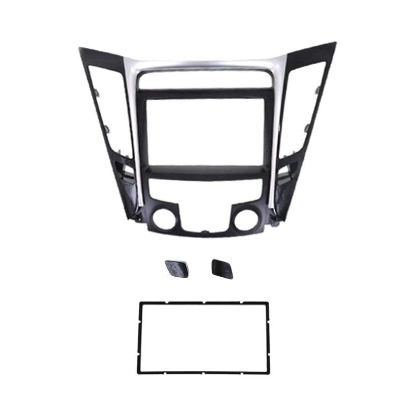 Double DIN Car Radio Facia Fascia Stereo Panel Plate DVD Dash Installation Kit for 2011 Hyundai Sonata Vehicles