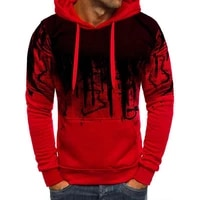 mens fashion street fashion pullover sweater hoodiesplash ink print pullover top hooded sweatshirt cycling sweatshirt