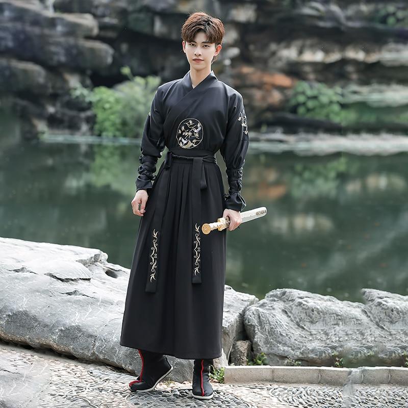 Hanfu رداء الصينية الوطنية ملابس رقص السيوف الشرقية الزي هان سلالة تأثيري الملابس القديمة الرقص مرحلة الأداء