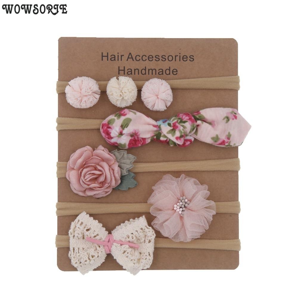 AliExpress - Baby Headbands Newborn hair Bows Kids Toddler headband Elastic Hair Band headwear children Girl Hair Accessories 5pcs/lot