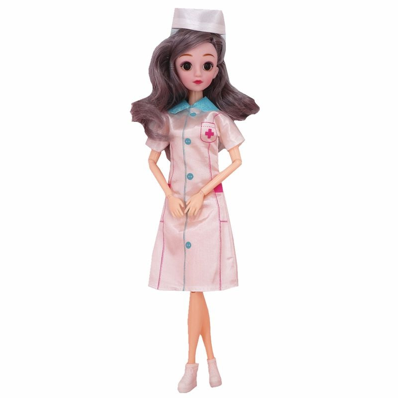 Baby Dolls 60cm Education Dollhouse People Party Gifts 30cm Articulated Doll For Girls Nurse Player Clothes For Barbie DIY Game