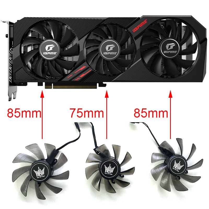 3PSC GA91S2U 4PIN 85MM GTX1660S SUPER Cooling Fan For Colorful iGame GeForce GTX 1660Ti Ultra RTX2060 2080 2070 Video Card Fans