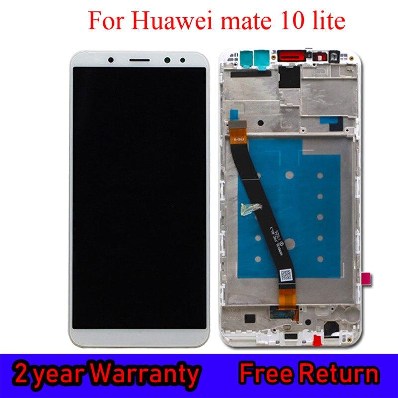 Reemplazo Original para Huawei Mate 10 Lite LCD con marco de visualización para Rhone Honor 9i Maimang 6 Nova 2i Digitalizador de pantalla táctil