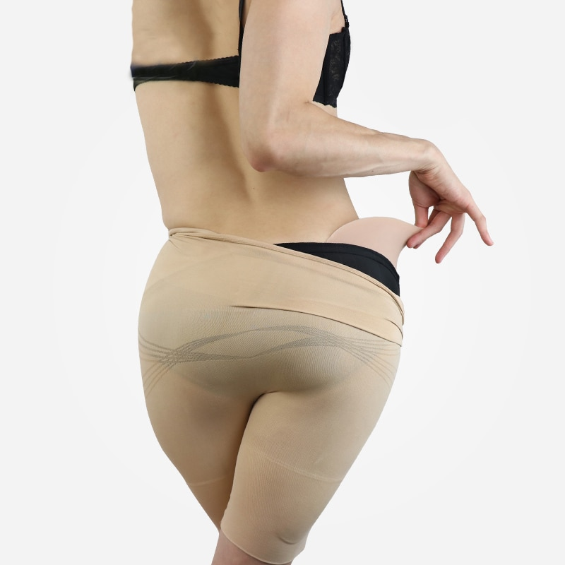 Full Shapely Enhanced Butt Sexy Medical Thin Silicone Hip Pads Fake butt Removable for Crossdress Shemale Cosplay